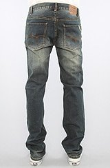 The Core Collection Slim Straight Fit Jeans in Vintage Blue Wash