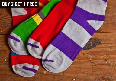 Shop Stand Out: Striped Socks by Zuriick