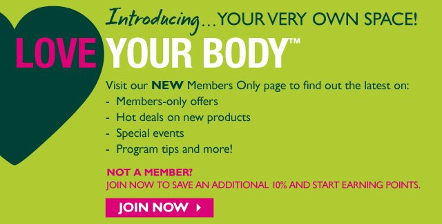 LOVE YOUR BODY™ Introducing…YOUR VERY OWN SPACE! -  join now