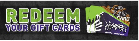 Redeem your gift cards!