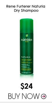 Rene Furterer Naturia Dry Shampoo Freshen up while restoring volume and shine with this water-free shampoo that's ideal for those short-on-time days. $24 Buy Now>>