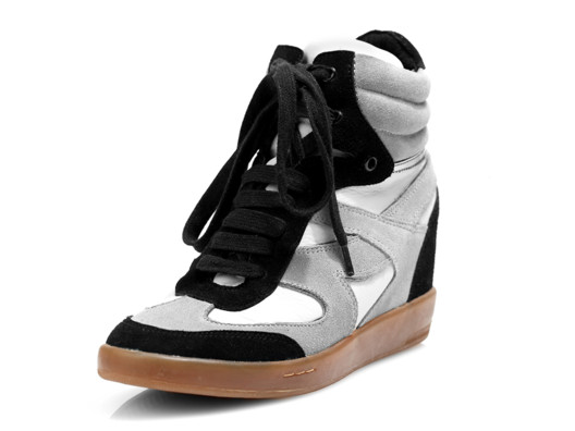 These wedge sneaks are super comfy and give you a little extra height while elongating the leg!