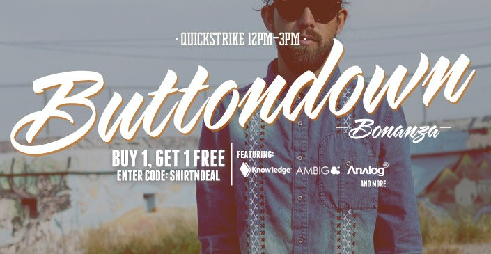 Buttondown Bonanza BOGO