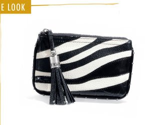 ZiZi Collection Pouch (black/white)