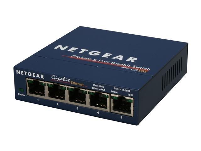 NETGEAR 5 Port Gigabit Business-Class Desktop Switch - Lifetime Warranty (GS105)