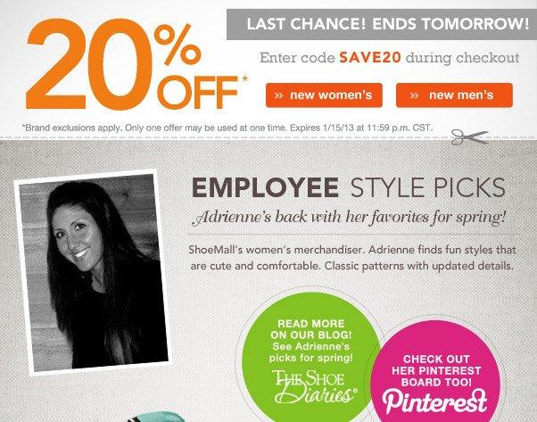 20% Off Reminder!