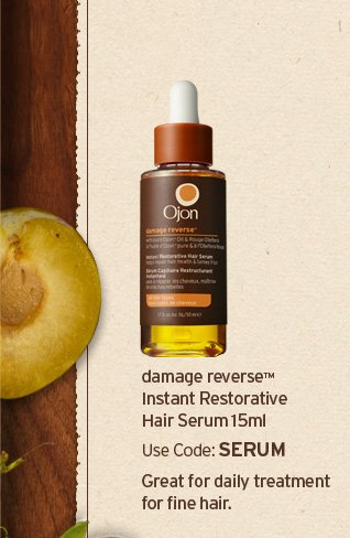 damage reverse instant restorative Hair Serum 15 ml Use code SERUM   Great for daily treatment for fine hair