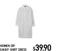 WOMEN DIP G.M.B.P. SHIRT DRESS