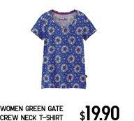 WOMEN GREEN GATE CREW NECK T-SHIRT