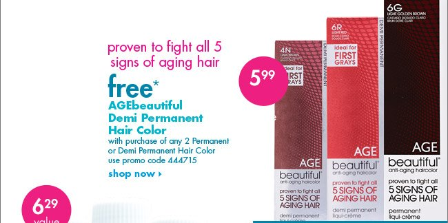 free* AGEbeautiful Demi Permanent Hair color