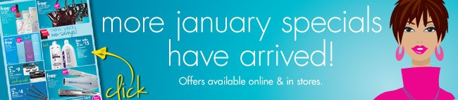 more january specials have arrived!
