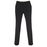 Paul Smith Trousers - Slim-Fit Black Wool Blend Trousers