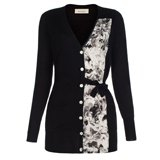 Paul Smith Knitwear - Black Collage Floral Panel Cardigan