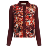 Paul Smith Knitwear - Burgundy Collage Floral Front Cardigan