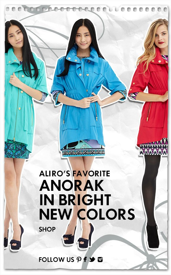 Ali Ro's Favorite Anorak in Bright New Colors