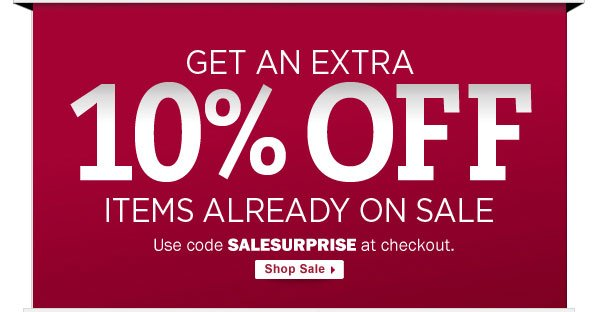 10% OFF sale items - use SALESURPRISE at checkout.
