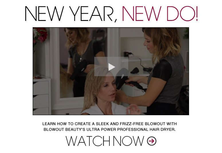 New Year, New Do! Learn how to create a sleek and frizz-free blowout with Blowout Beauty's Ultra Power Professional Hair Dryer. See More>>