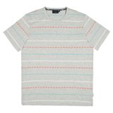 Paul Smith T-Shirts - Grey Geometric Stripe T-Shirt