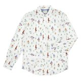 Paul Smith Shirts - White Mushroom Print Shirt