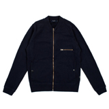 Paul Smith Tops - Navy Zip Front Raglan Sweatshirt