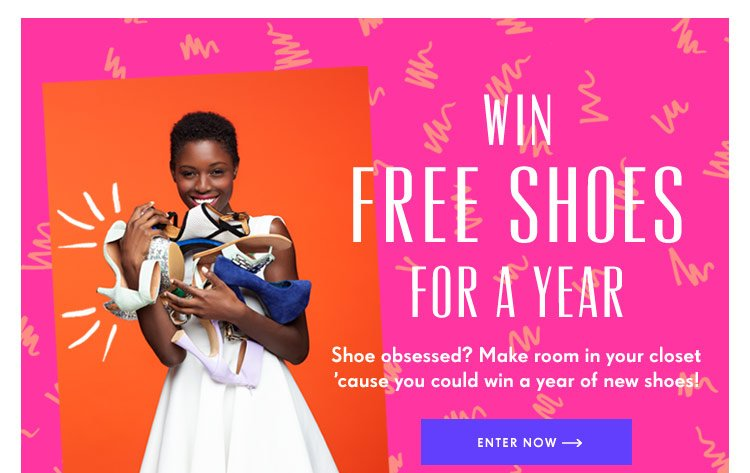 Win Free Shoes For A Year!