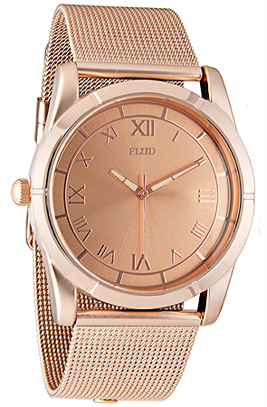 The Moment Watch With Interchangeable Bands in Rose Gold