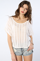 The Quincy Davis Knit Top in White