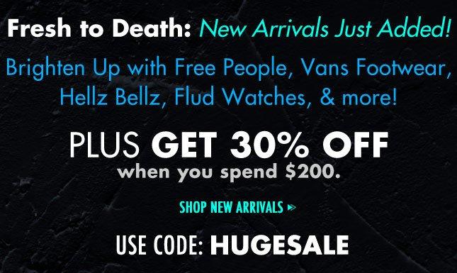 Brighten Up with Free People, Vans Footwear, Hellz Bellz, FluD Watches, & more!