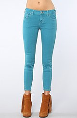 The Crop Skinny Pant in Stormer Blue
