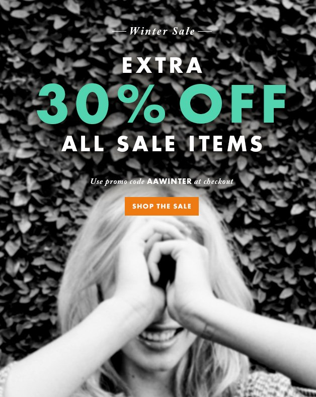 Winter Sale - Extra 30% Off All Sale Items