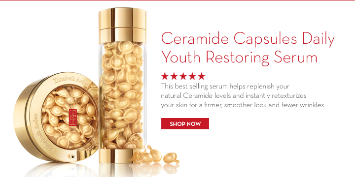 Ceramide Capsules Daily Youth Restoring Serum. This best selling serum helps replenish your natural Ceramide levels and instantly restexturizes your skin for a firmer, smoother look and fewer  wrinkles. SHOP NOW.