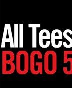 ALL TEES BOGO 50% OFF