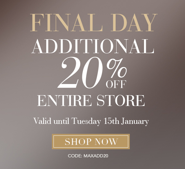 MaxStudio 20% off Entire Store Final Day