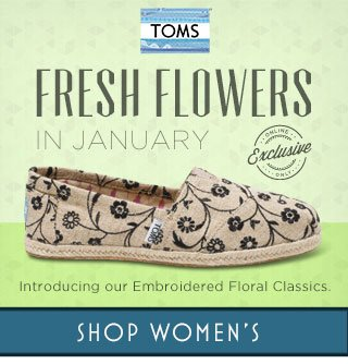 Introducing our Embroidered Floral Classics. Shop Women's.