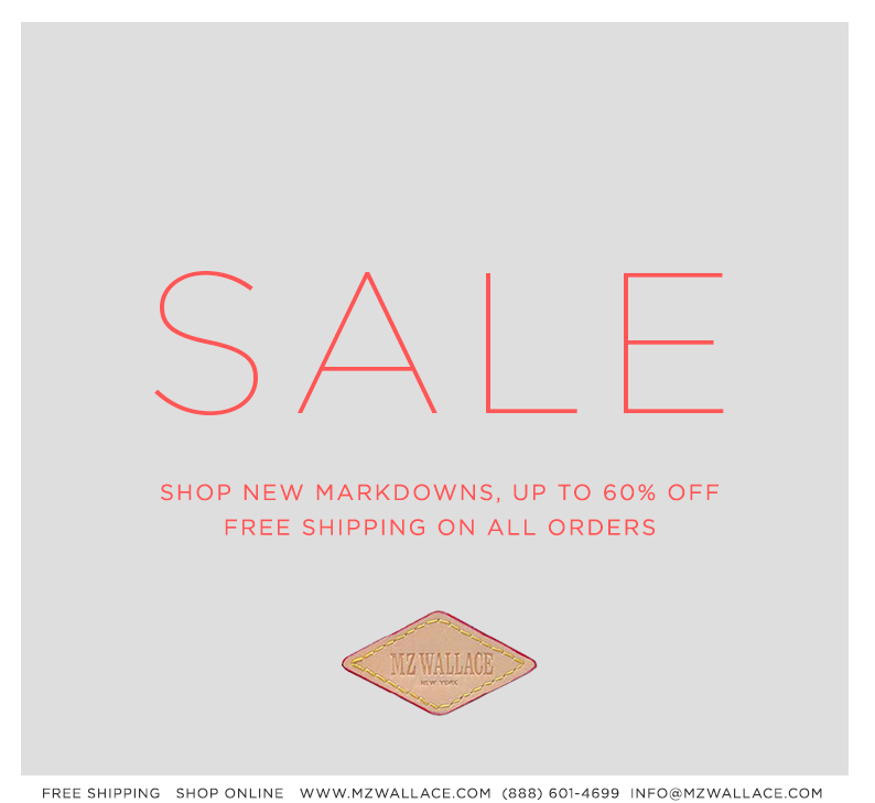 New markdowns, up to 60% off, and free shipping on all orders.