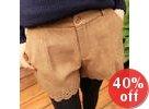 Perforated-Hem Shorts