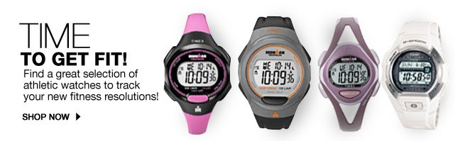 Time to get fit!  Find a great selection of athletic watches to track your new fitness resolutions!  SHOP NOW