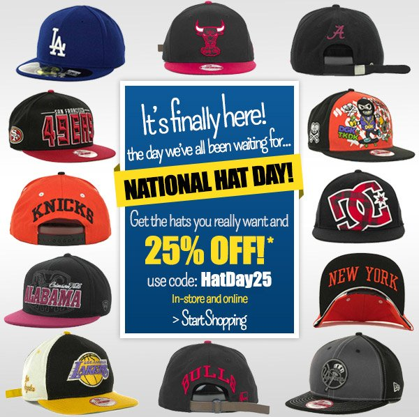 National Hat Day! Celebrate with 25% off Hats