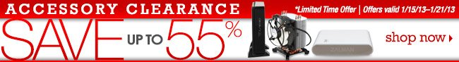 Accessory Clearance Sale up to 55%