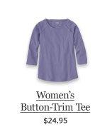 Women's Button-Trim Tee, $24.95