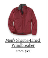 Men's Sherpa-Lined Windbreaker, from $79