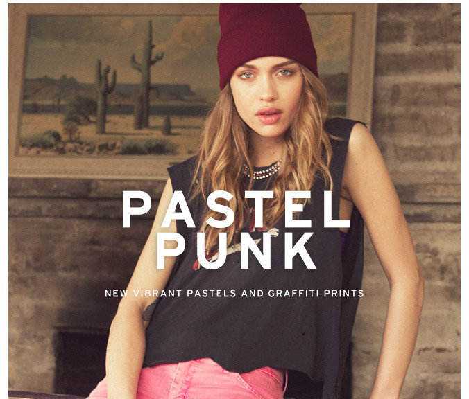 New Arrivals in Vibrant Pastels & Graffiti Prints