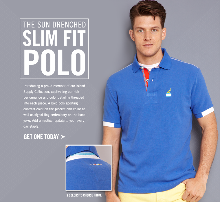 The New Sun Drenched Slim Fit Polo!