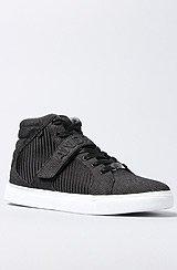 The Designer Mid Sneaker in Black Denim