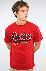 The Posse Script 2 Basic Tee in Red