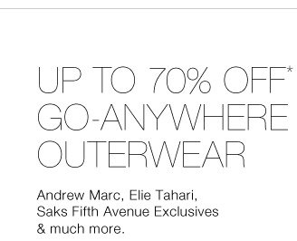 Up To 70% Off* Go-Anywhere Outerwear