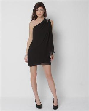 JS Boutique Beaded One Shoulder Dress