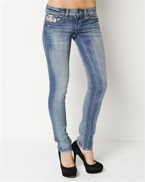 Request Stud And Jewel Embellished Jeans