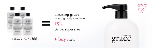amazing grace firming body emulsion $53...