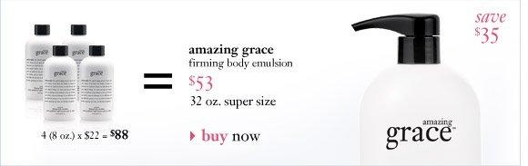 amazing grace firming body emulsion $53...
